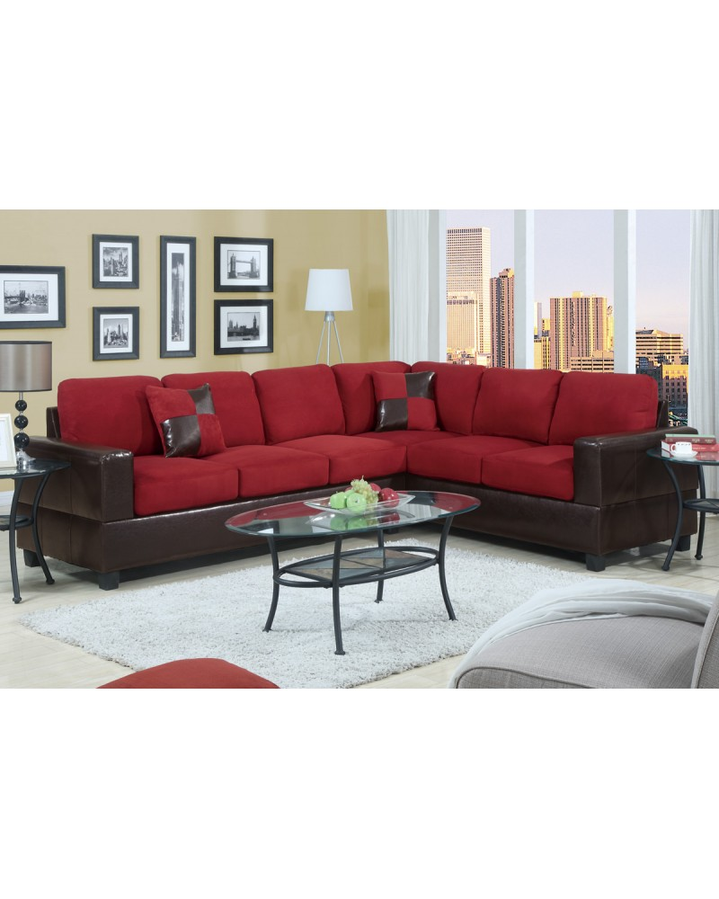 2 Piece Reversible Sectional Sofa