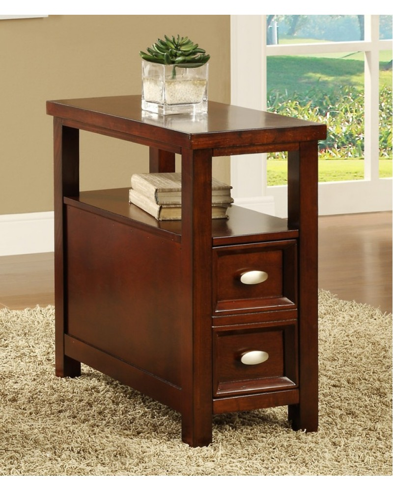 Craftsman Style Chairside Table, Dark Cherry