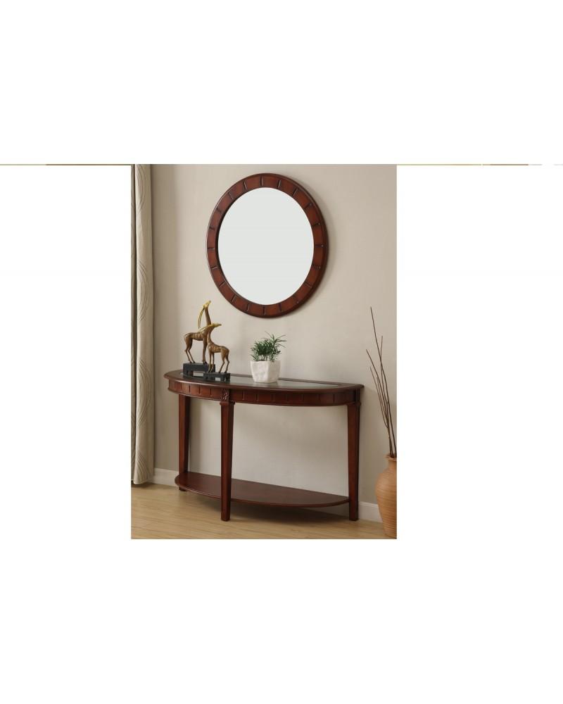 Round Mirror, Decorative Wood Frame