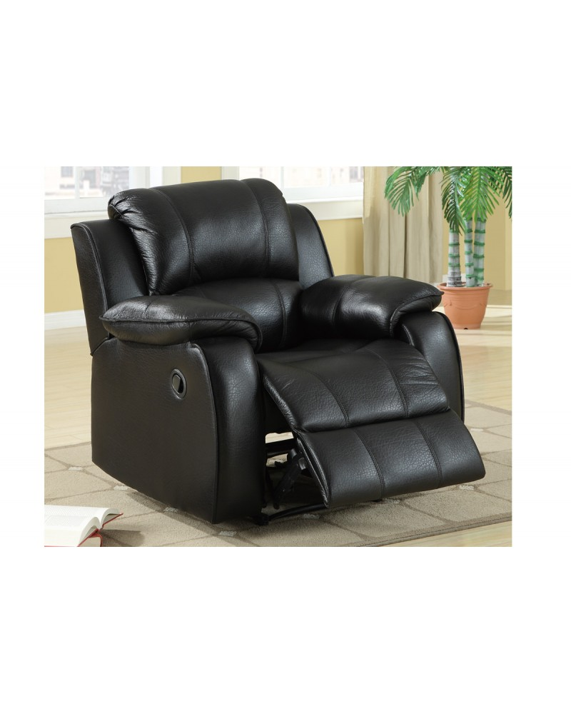 F7047 Leather Recliner, Black