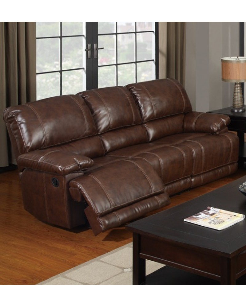 Bonded Leather Motion Sofa, Loveseat and Recliner ...