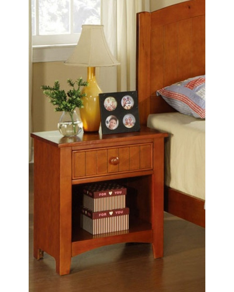 Twin Bed Set, Cherry Night Stand