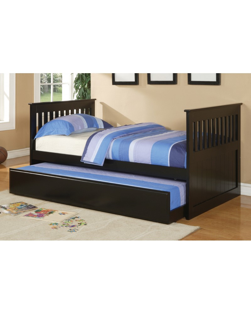 F9050 Black Trundle Bed