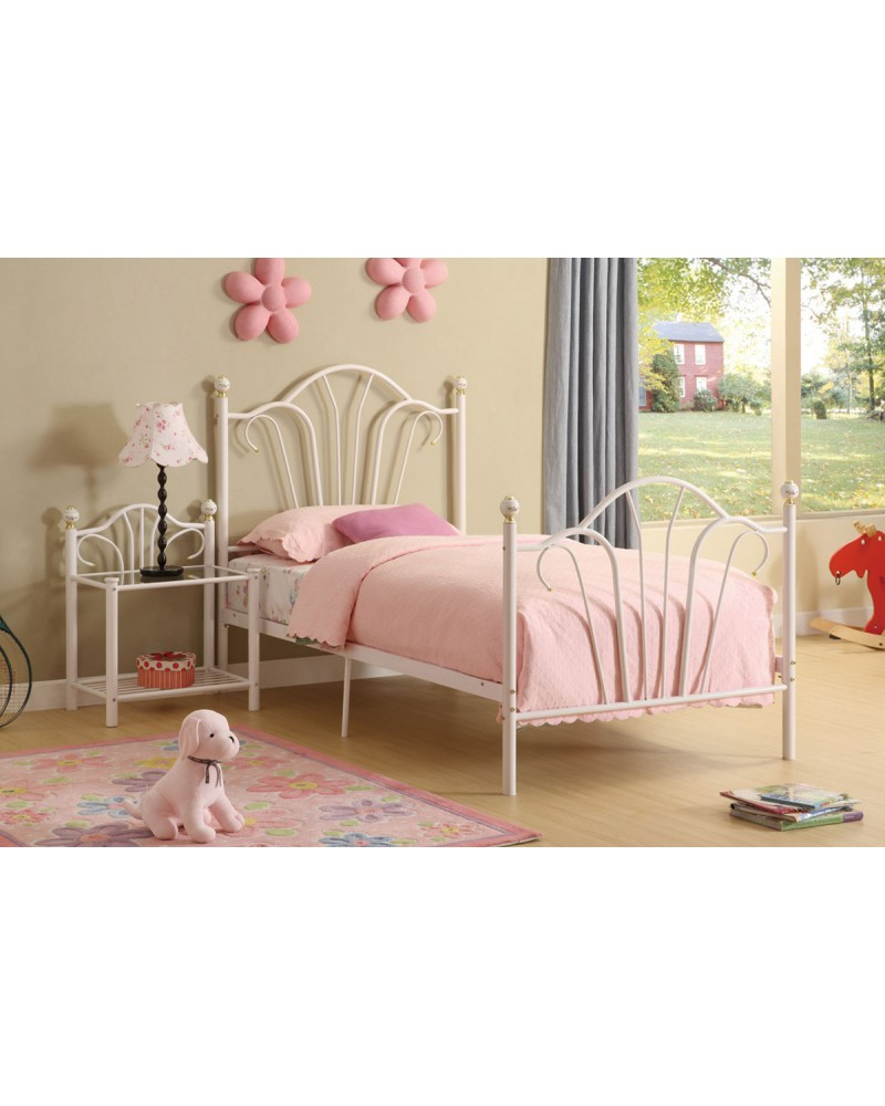 Youth Bed, Fairytale Inspired Metal Frame - Twin Twin Bed