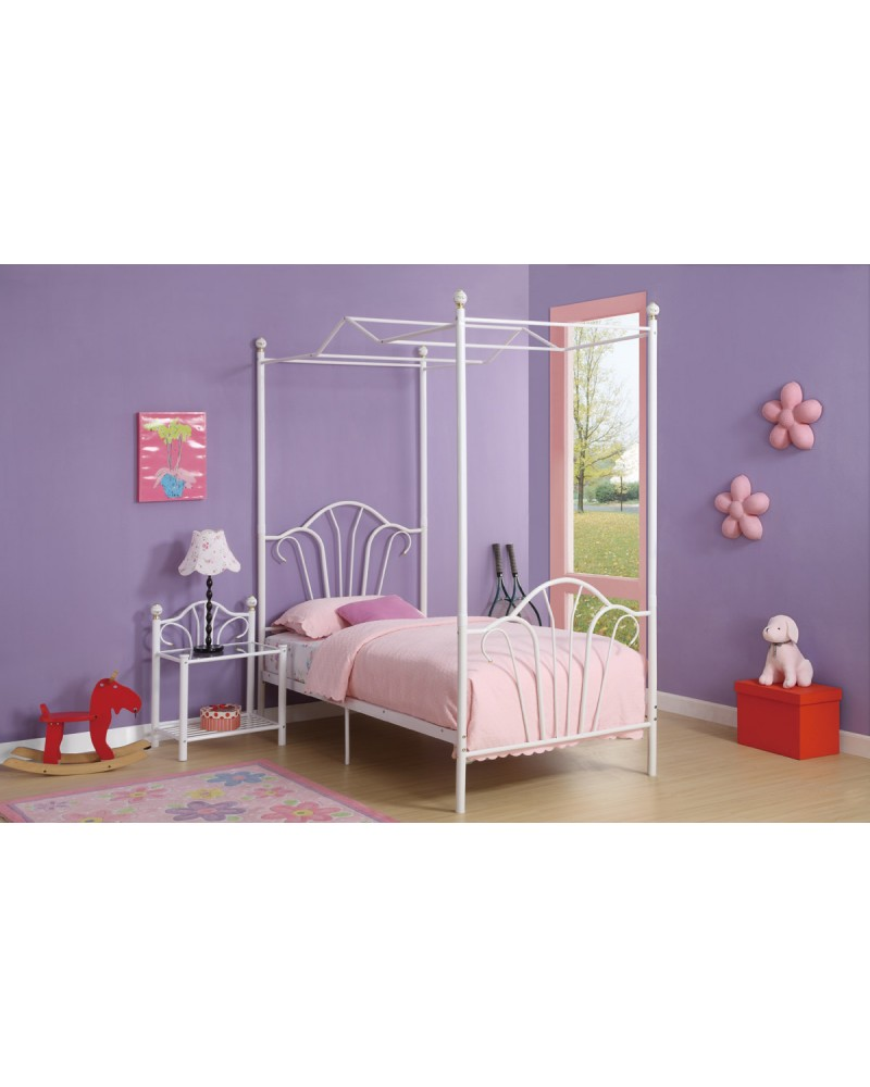 Youth Bed, Fairytale Inspired Metal Frame - Twin Canopy