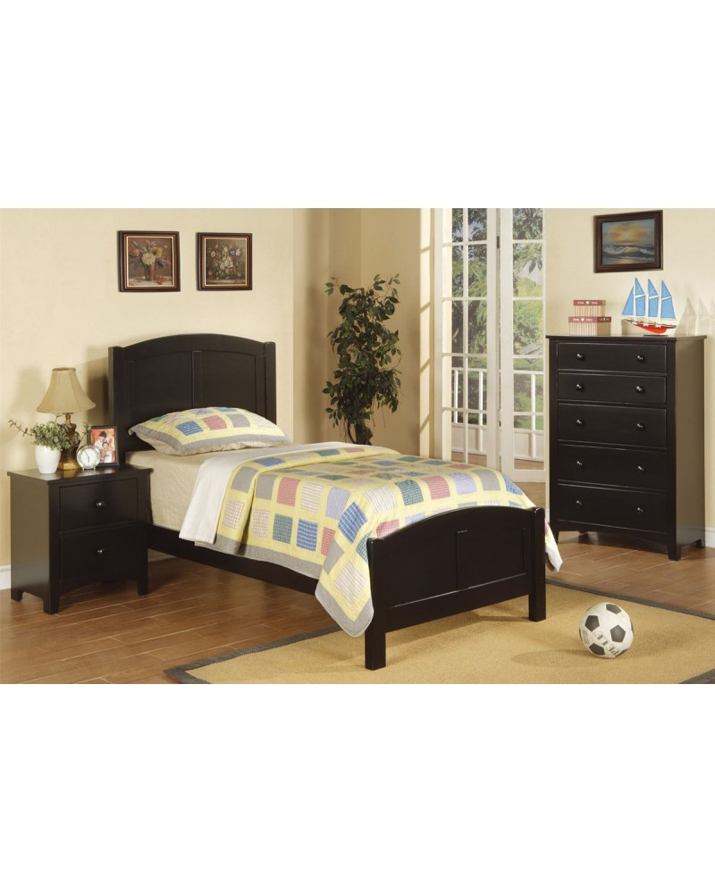 Twin Bed Set, Black. Twin Bed