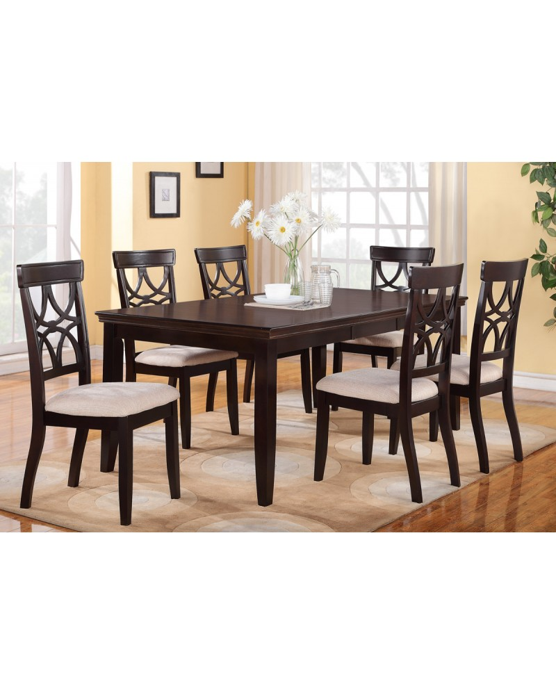 6-Piece Dining Table Set, Espresso Finish 7-Piece Dining Set, Dark Espresso