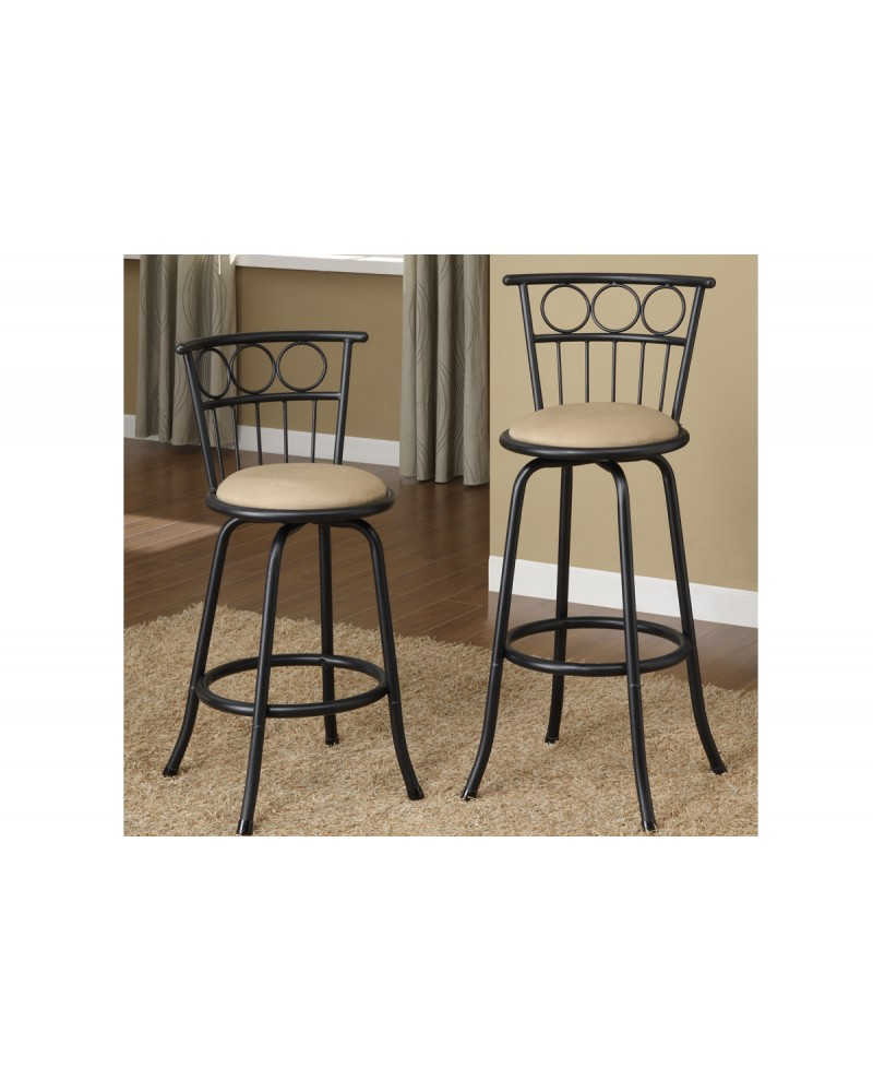 Adjustable Height Swivel Barstool - Circles and Lines