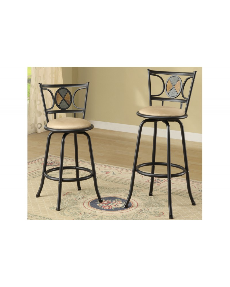 Adjustable Height Barstool - Stone Back