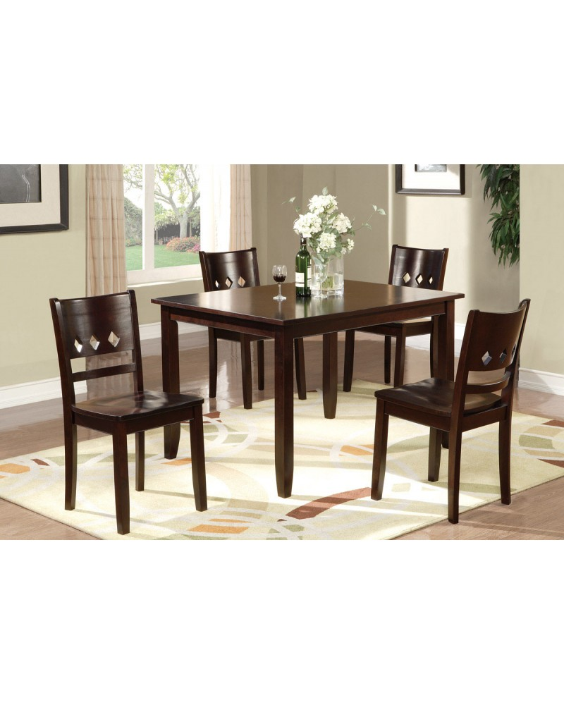 Counter Height Dining Set, Includes 4 Chairs