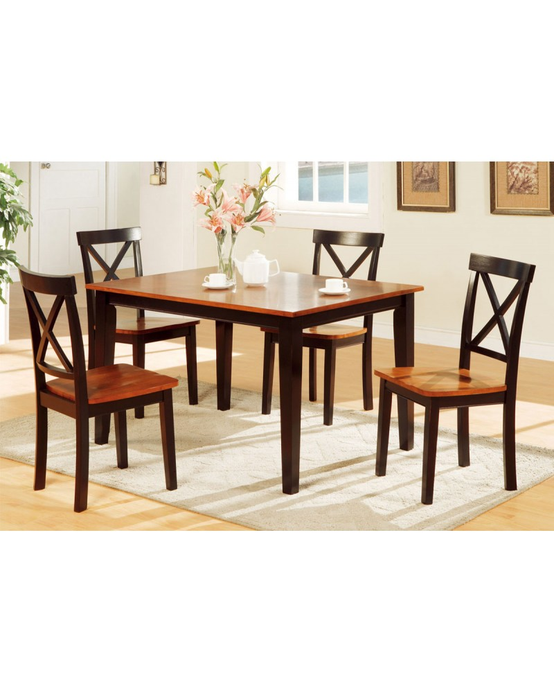 5-Piece, Two Tone Dining Set Includes Chairs
