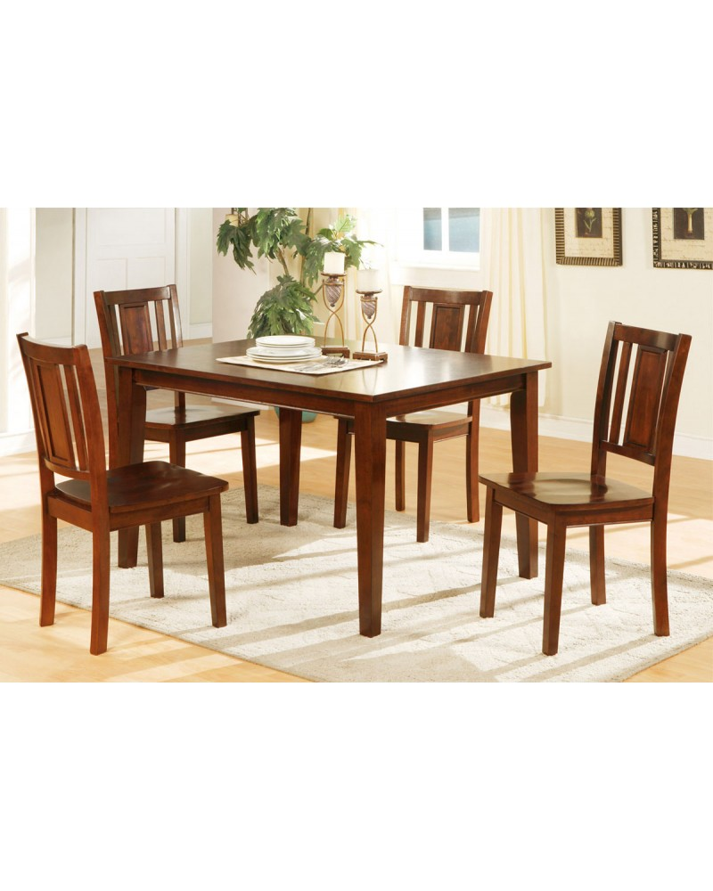 5-Piece Dining Table Set, Cherry Finish