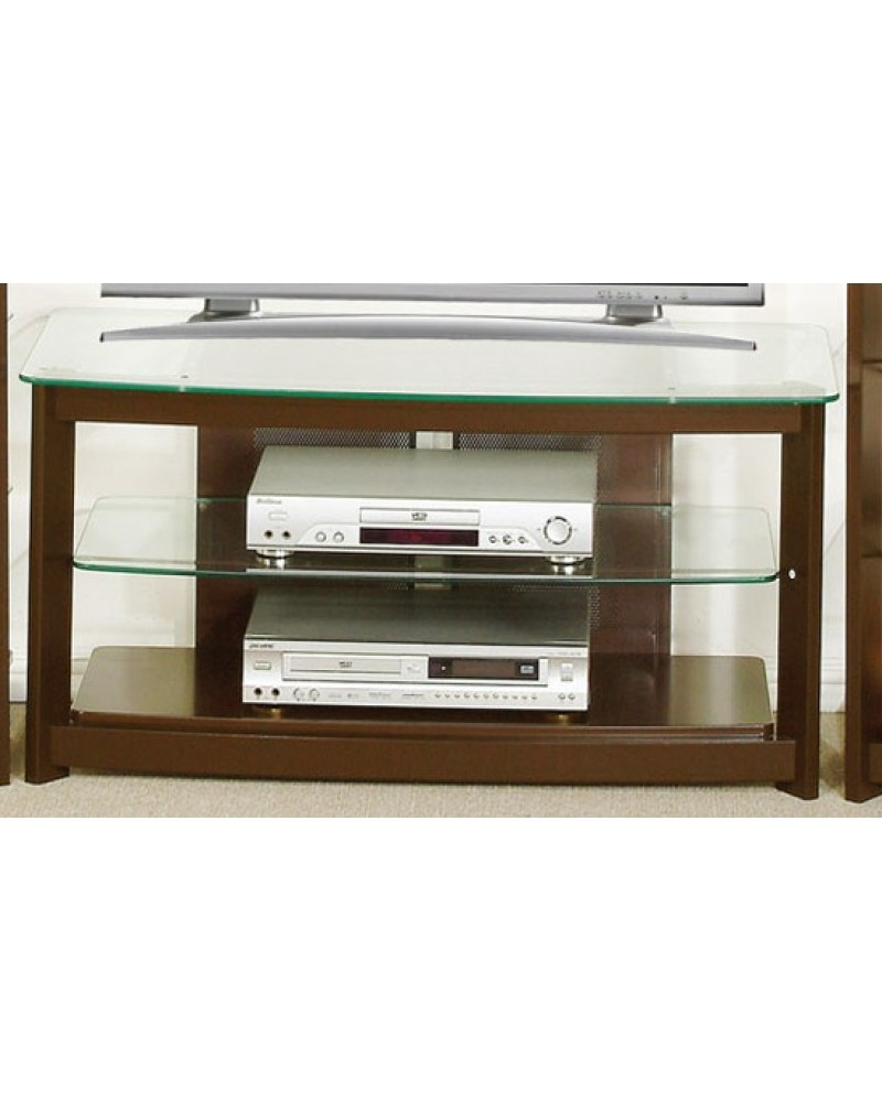 TV Media Center Medium Oak Veneer TV Stand
