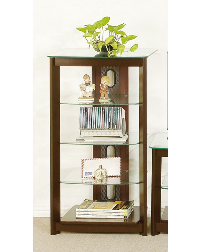 TV Media Center Medium Oak Veneer Media Shelf