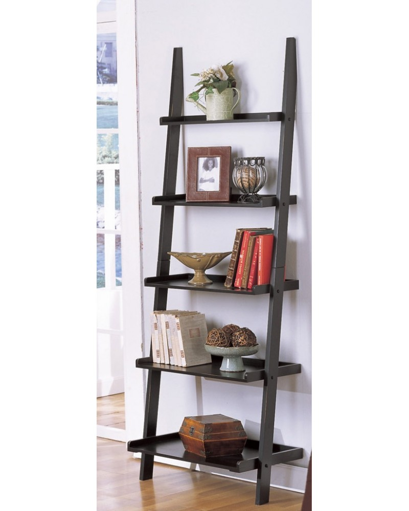 Magazine Table and Matching Wall Shelf, Black Wall Shelf