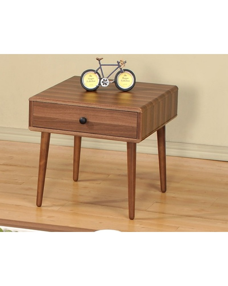 Vintage Wood Veneer Coffee Table and End Table End Table