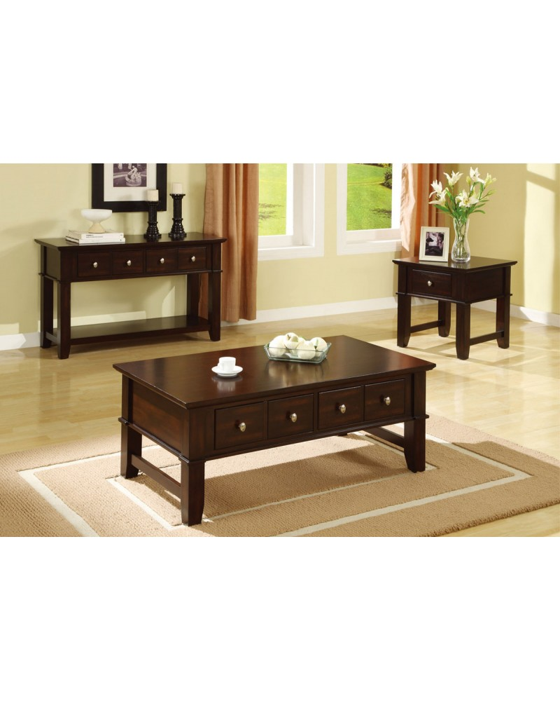 Coffee Table Set, Mission Style, Espresso Coffee Table