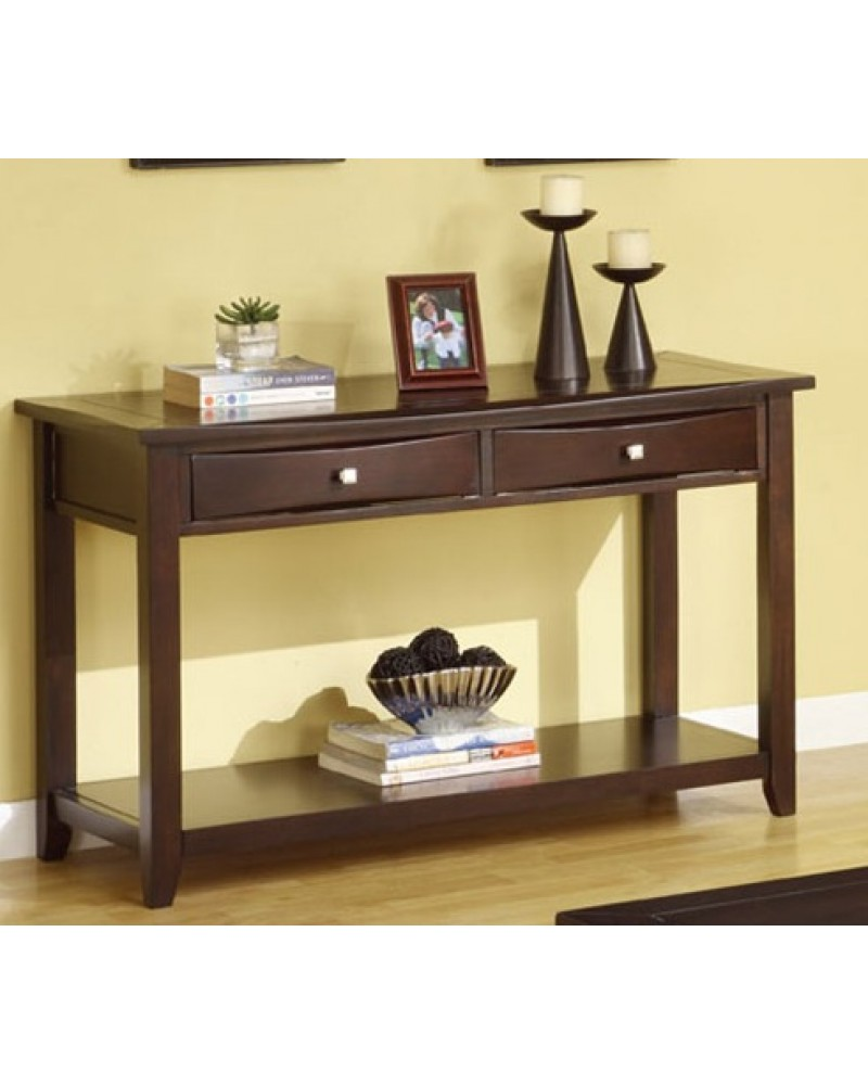 Coffee Table Set with Drawers, Espresso Console Table