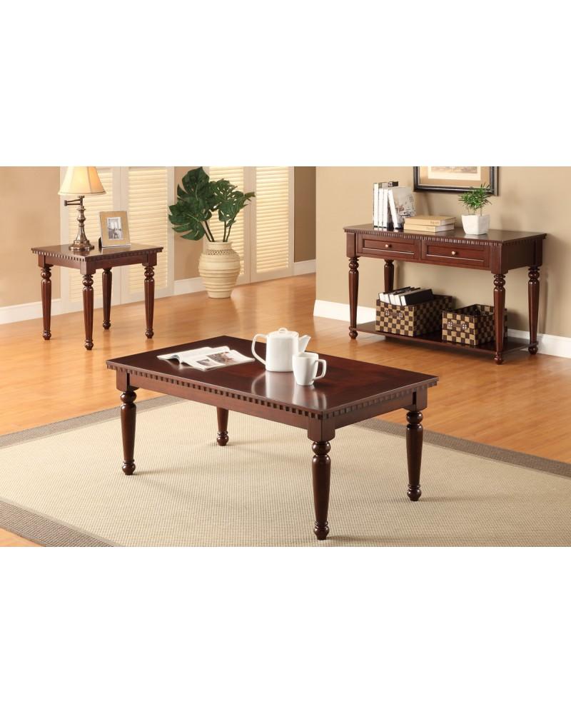 Coffee Table Set, Cherry Veneer Coffee Table