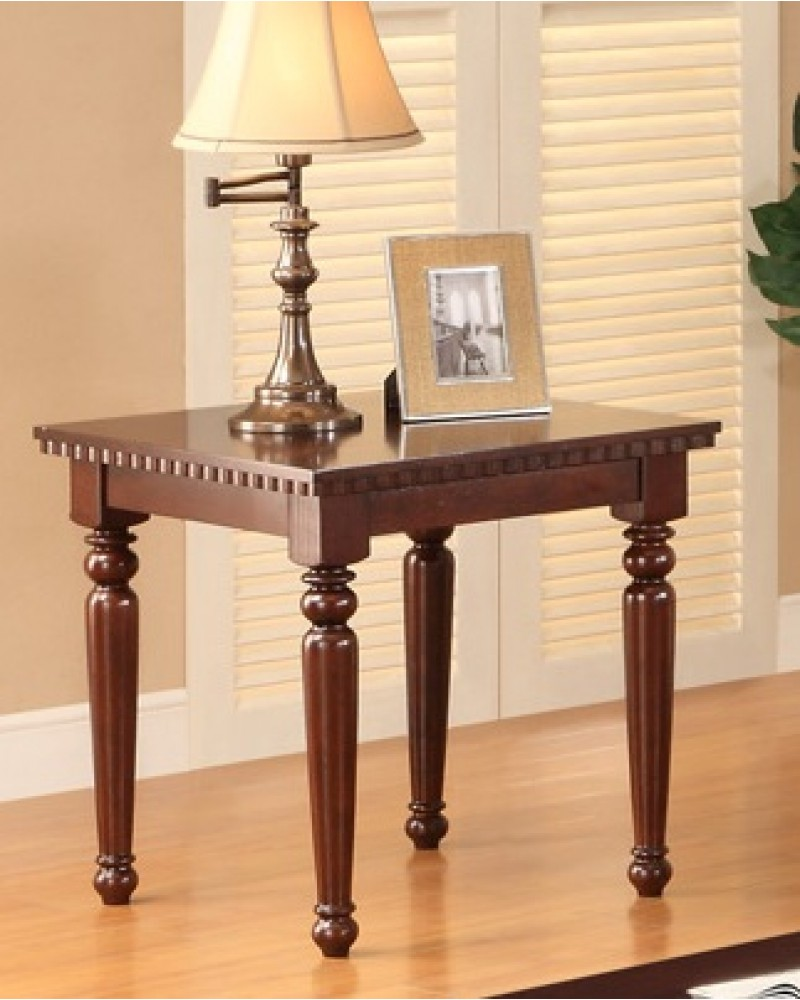 Coffee Table Set, Cherry Veneer End Table