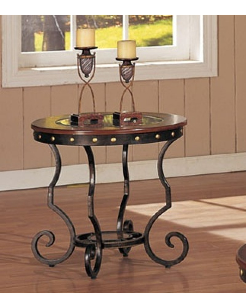 Coffee Table and Matching End and Consol Tables, Round End Table