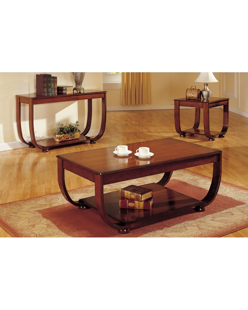 Coffee Table, Curved Legs, Matching End Table and Console Coffee Table