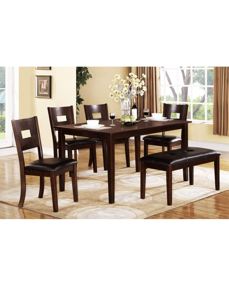Rectangular Wood Dining Table, Espresso