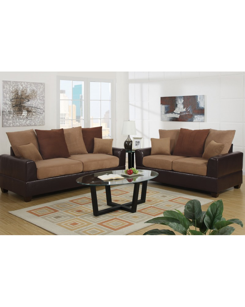 Pillow Back Sofa and Loveseat