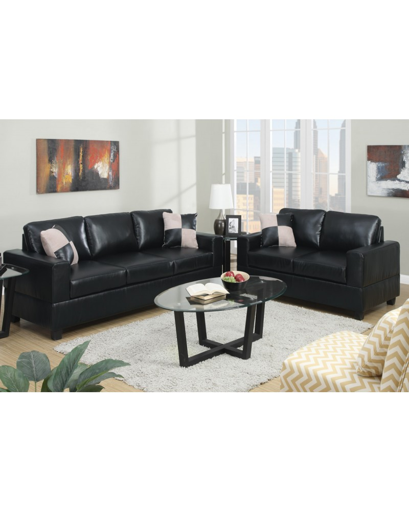 Black Sofa and Loveseat Combination
