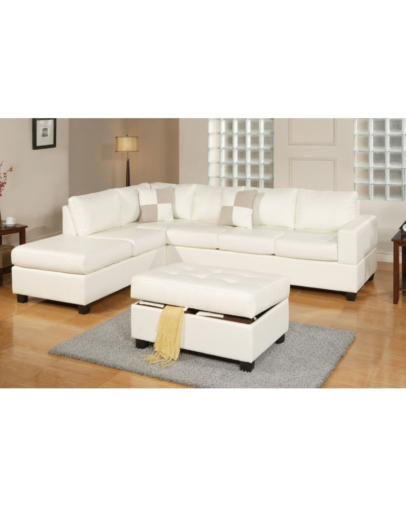 steal cream dante sofa leather furniture a sectional poundex bonded