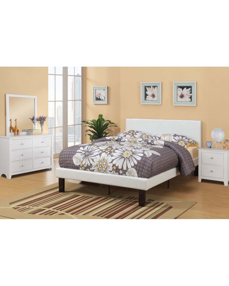 F9210T White Twin Bed