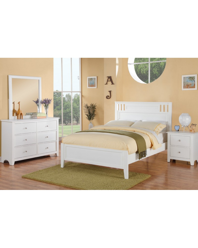 F4256 White Dresser