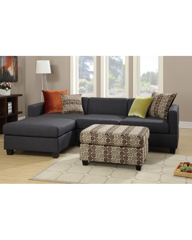 2 Pcs Slate Linen Sectional Set - F7170