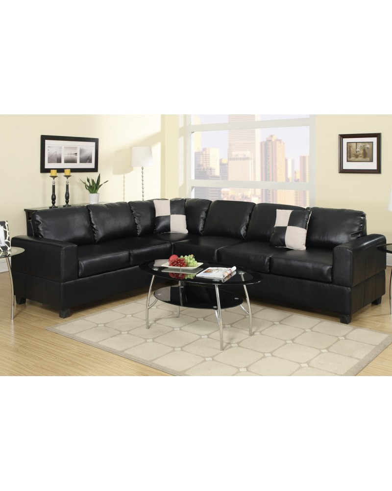 sofa tango modern image leather casa sectional divani black
