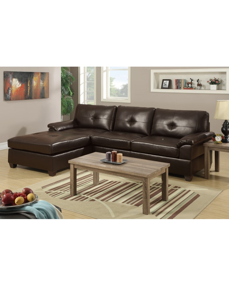 2 Piece Reversible Sectional Set by Poundex - F7407