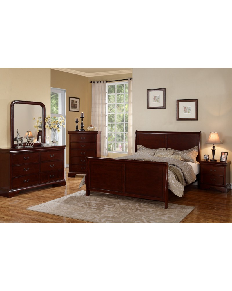 F9231CK Cal King Sleigh Bed