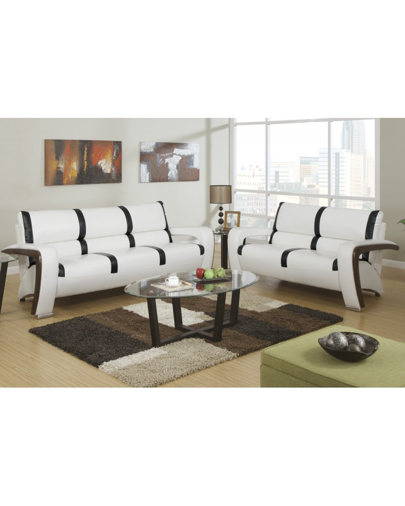 2 Piece Sofa Set with Loveseat by Poundex - F7251