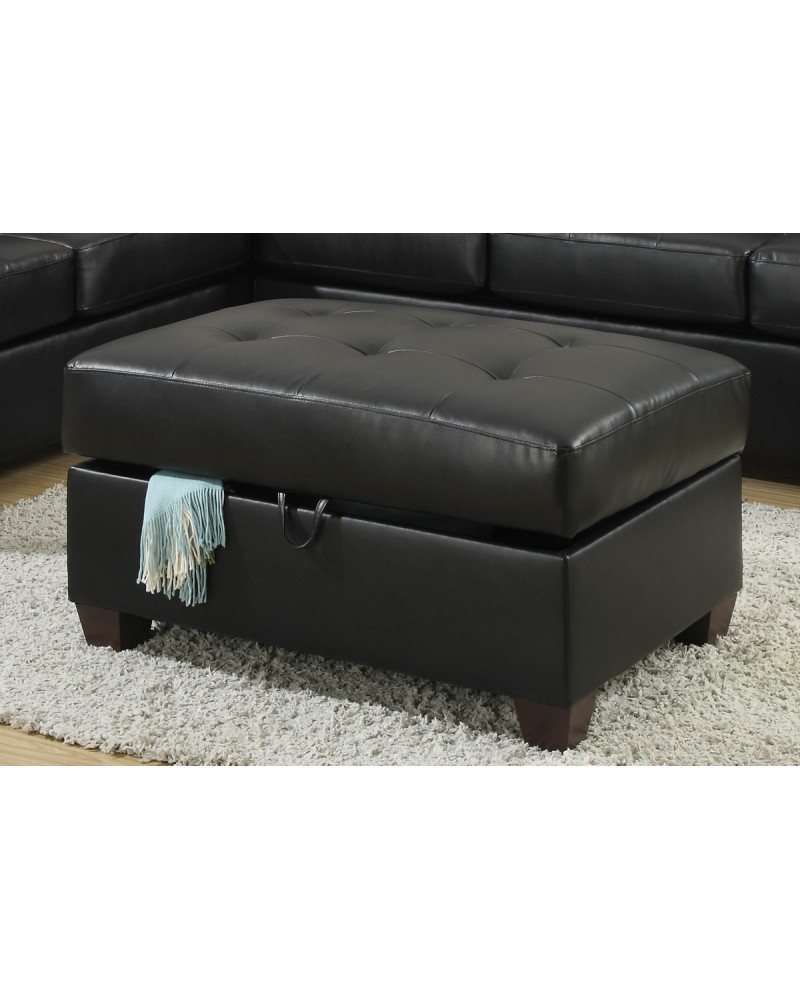 Awesome Bobkona Bonded Leather Ottoman By Poundex F7530 Theyellowbook Wood Chair Design Ideas Theyellowbookinfo