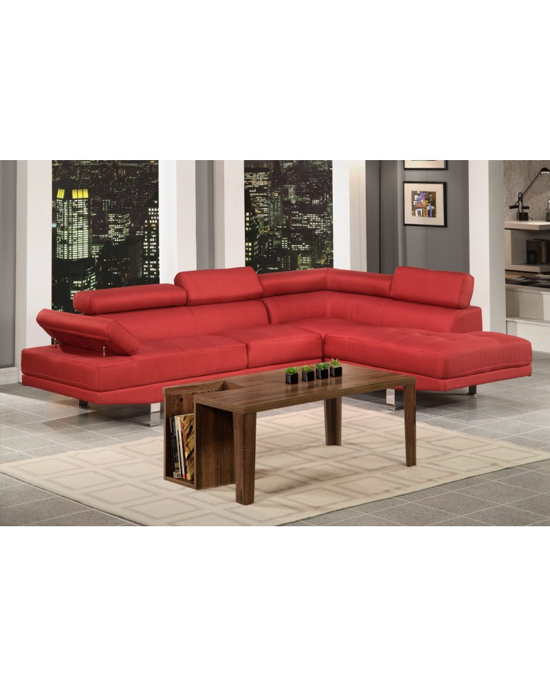 2 Piece Carmine Sectional Sofa by Poundex - F7550