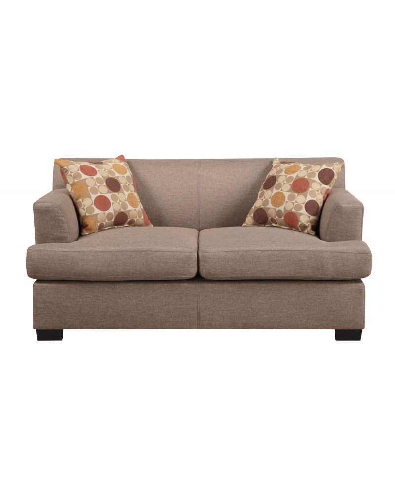 Microfiber Stone Loveseat by Poundex - F7967