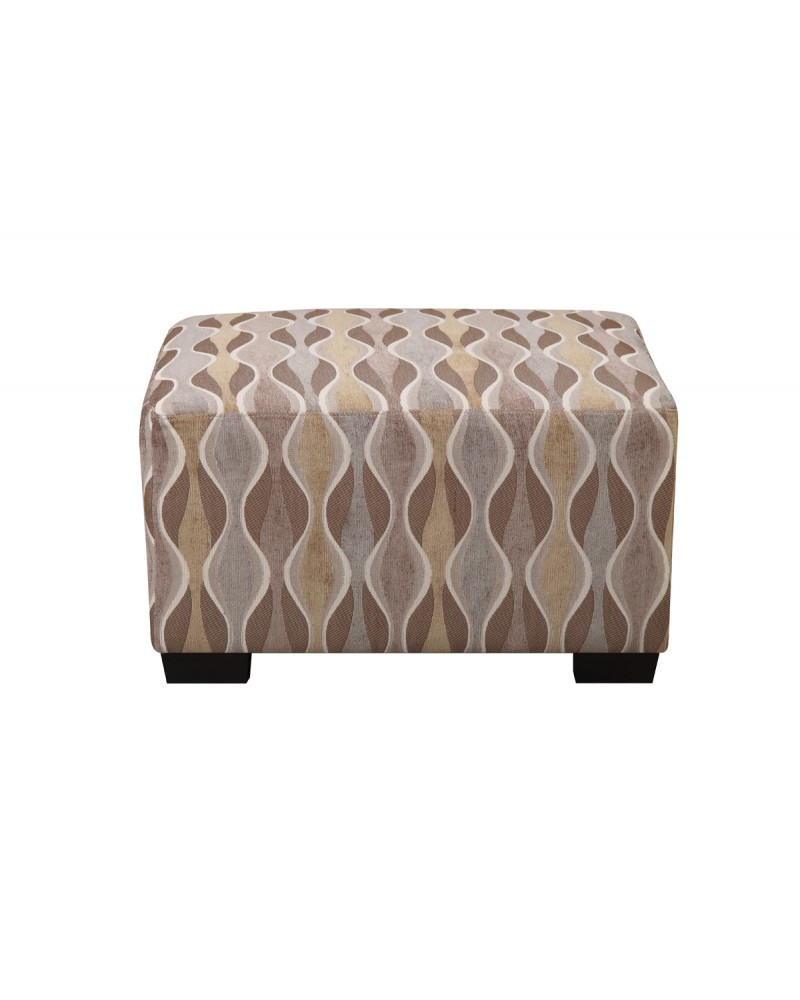 Multi circular patterned ottoman by Poundex - F7974