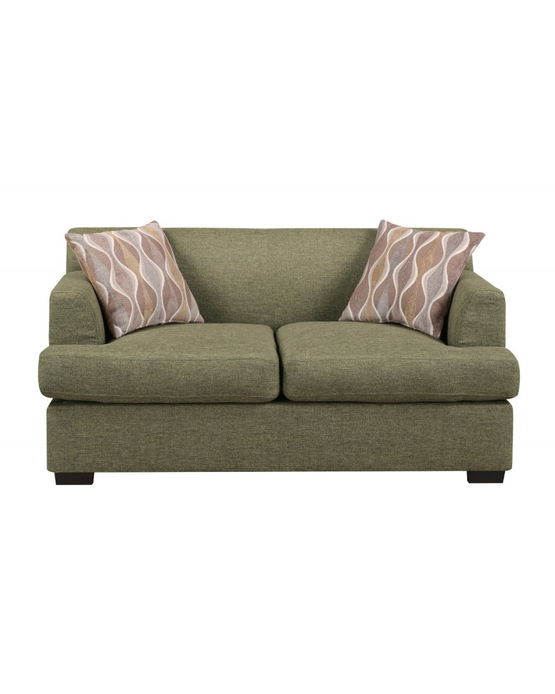 Green Fabric Sectional by Poundex - F7977