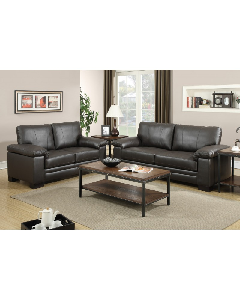 Leather Sofa Set by Poundex - F7763