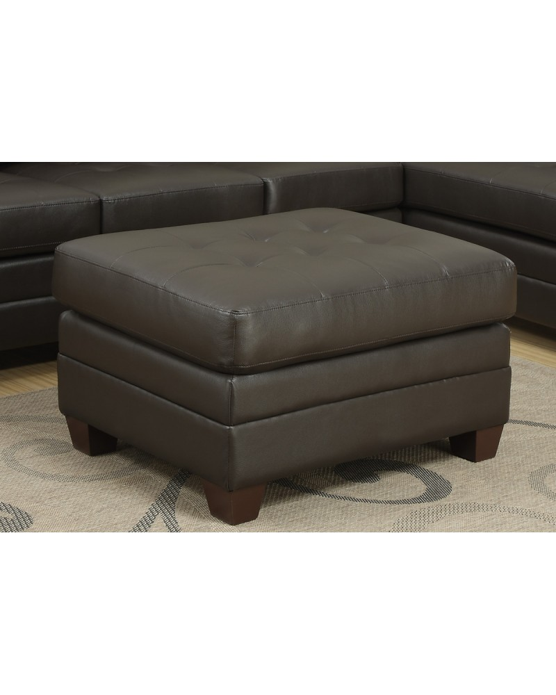 Leather Cocktail ottoman by Poundex - F7720