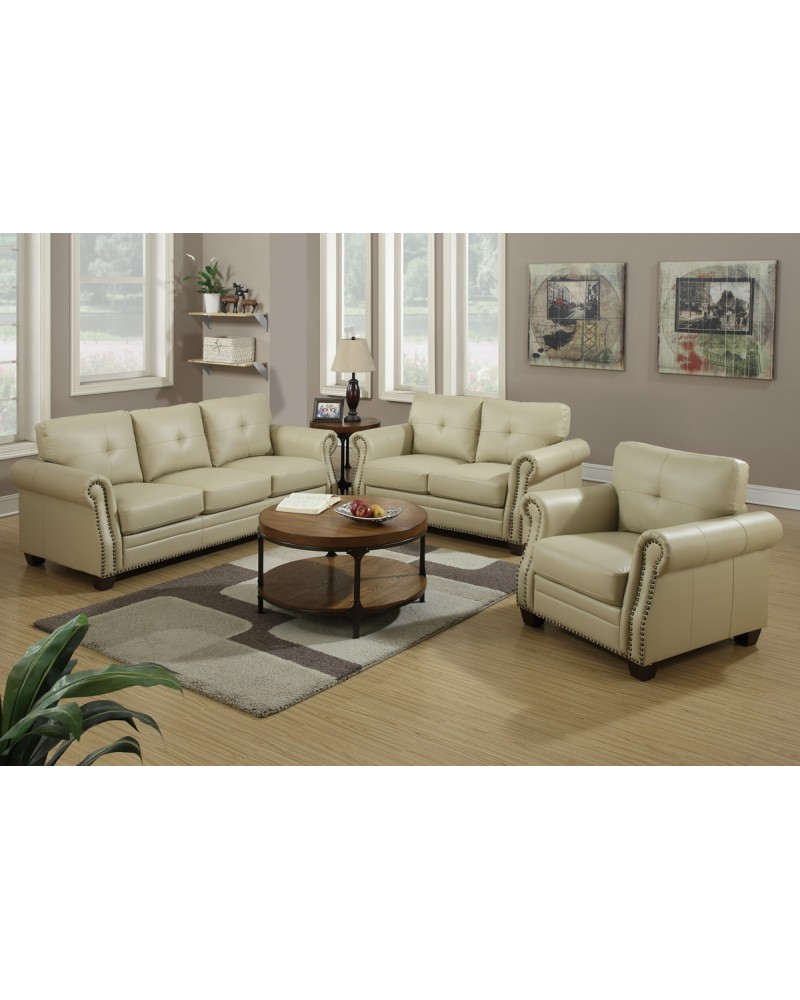 2 Piece Leather Sofa Set by Poundex - F7784