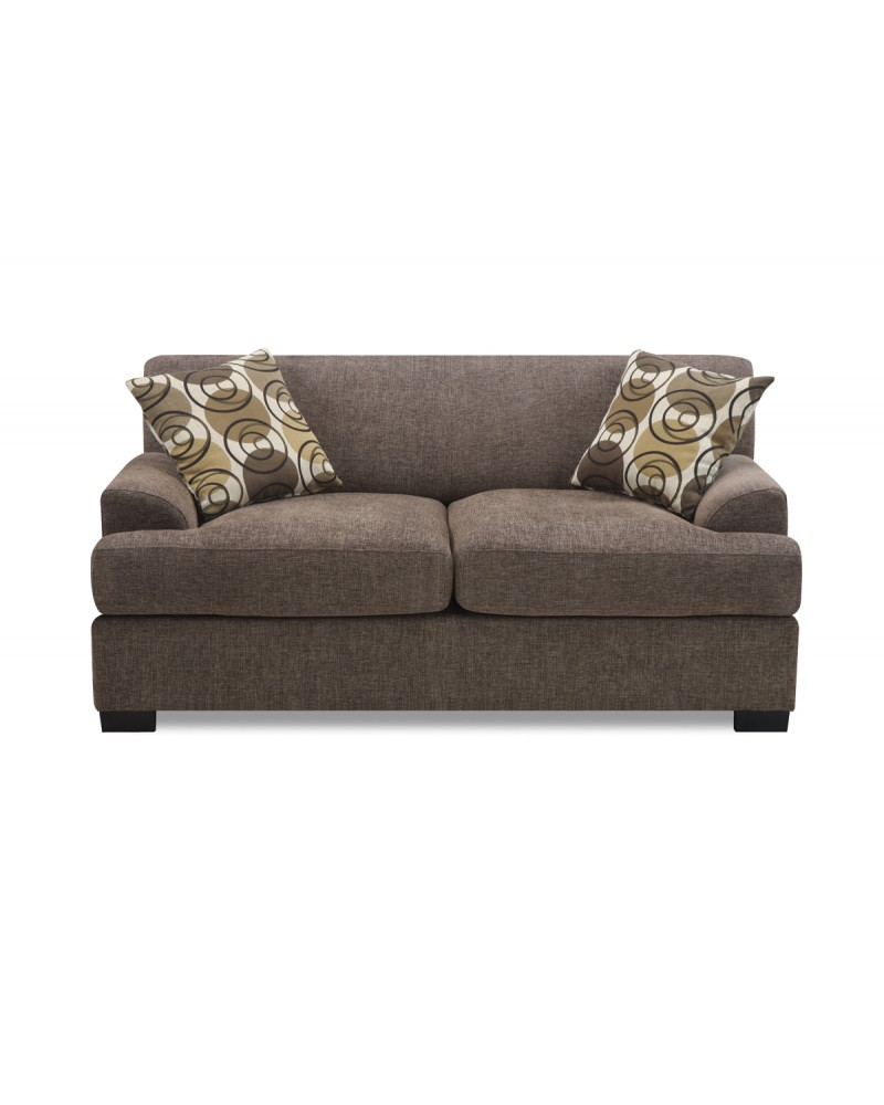 Modern Loveseat in Slate Finish by Poundex - F7449