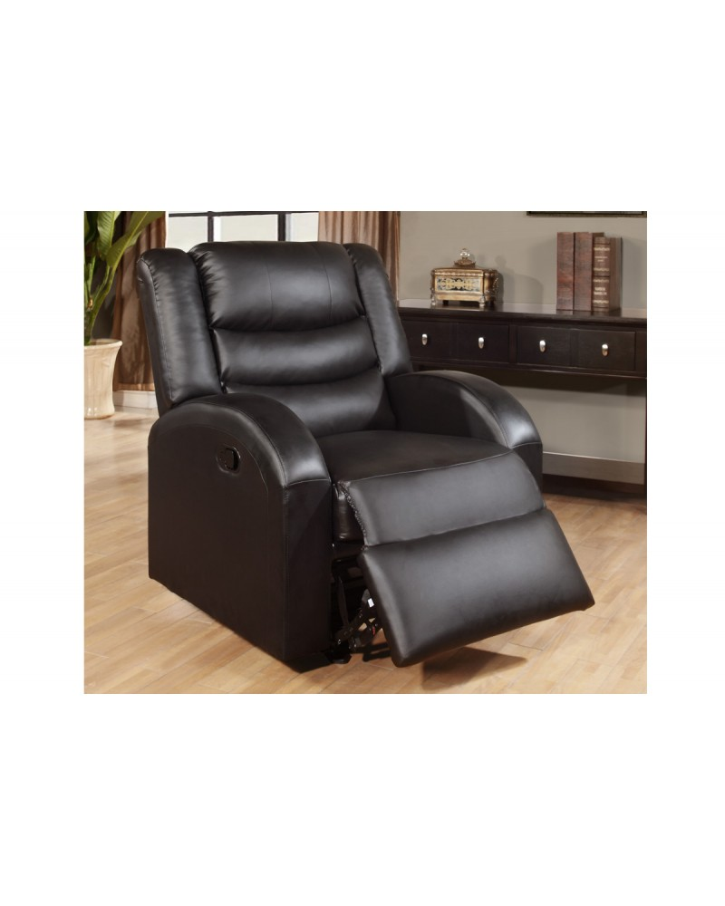 Espresso Rocker Recliner by Poundex - F6653