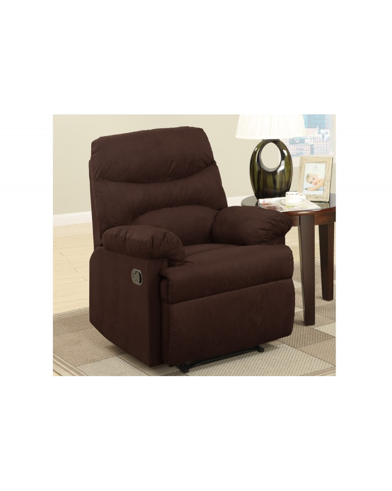 Chocolate Rocker Recliner by Poundex - F7055