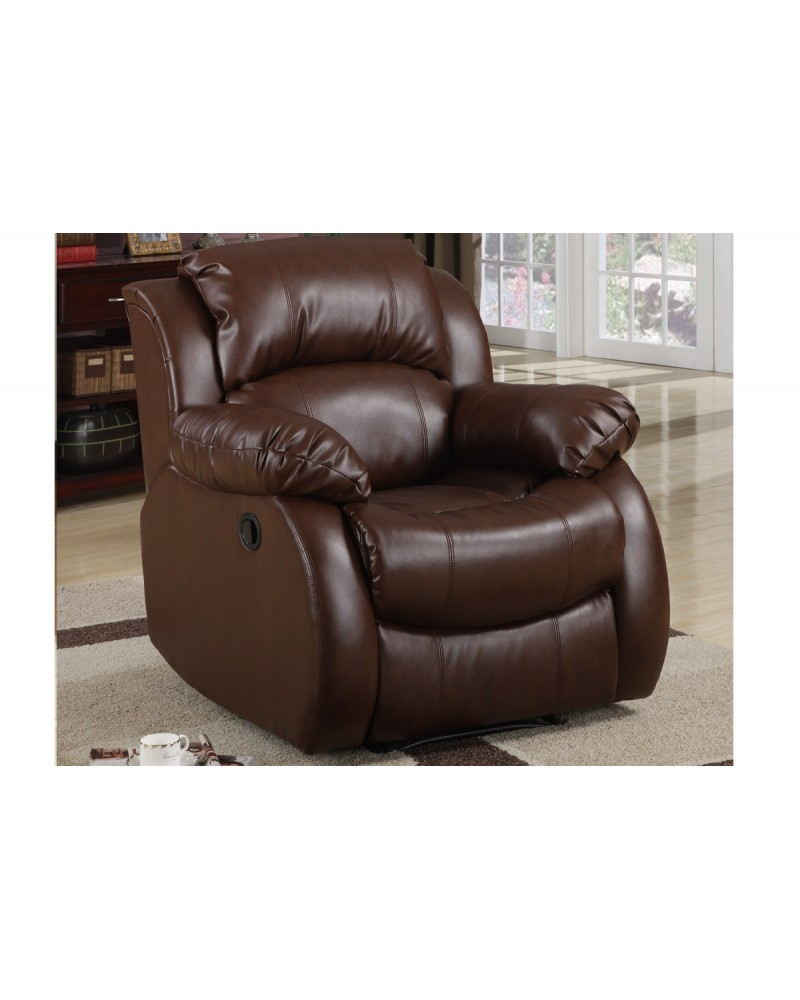 Bonded Leather Rocker Recliner by Poundex - F7733