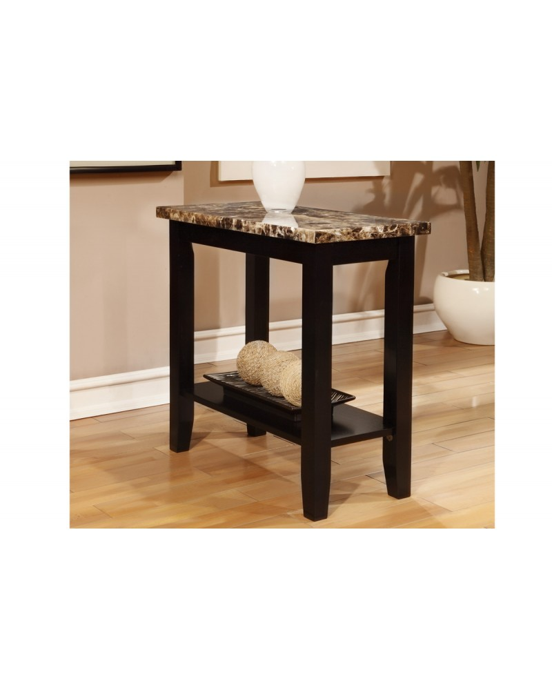Marble Top Side Table by Poundex - F6257